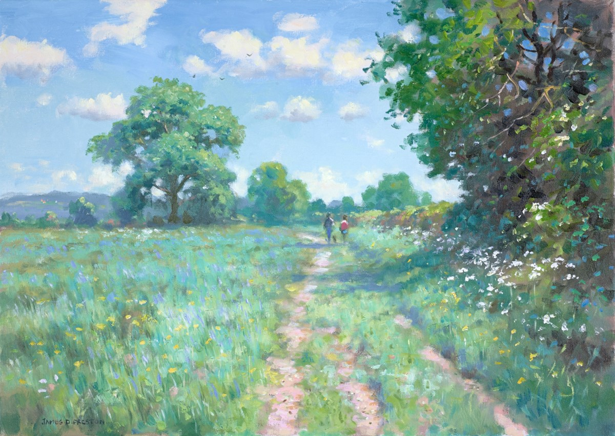 Summer Stroll by james preston -  sized 23x17 inches. Available from Whitewall Galleries